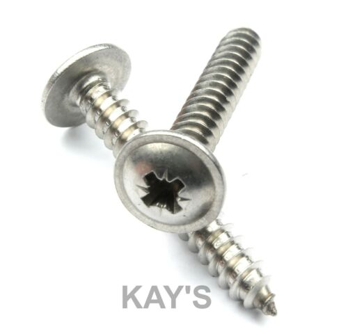Stainless Steel Flanged Self Tapping Screws 50pk. No.10 x 16mm 5//8/'/'