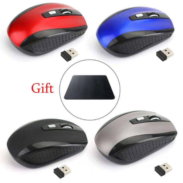 2.4GHz Wireless Optical Mouse USB 2.0 Receiver Adjustable for PC Desktop Laptop^