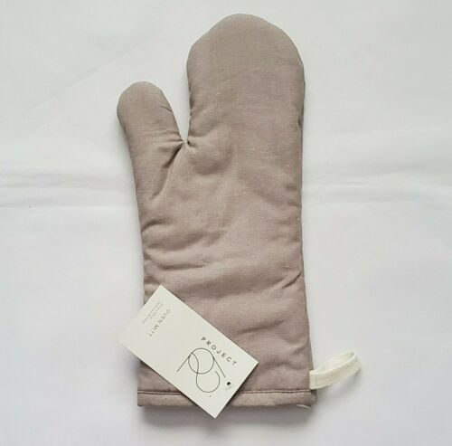 New w// Tag 100/%Cotton Project 62 Oven Mitt Deep Taupe 61//2 × 121//2 L6