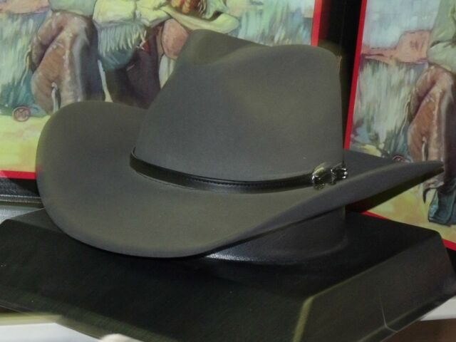 0bdc66dcc480d Stetson 4x Buffalo Felt Seneca Cowboy Western Hat 7 5 8 Granite for ...