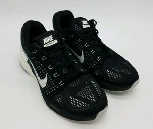purchase cheap dc0eb 6a077 Details about Nike Lunarglide 7 Flyknit Men's Black White Oreo Running  Shoes 747355-001 Size 7