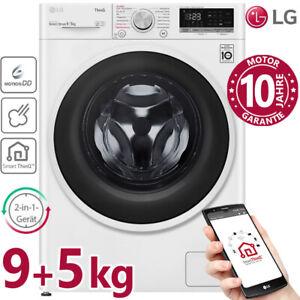 LG Waschtrockner 9/5kg Waschmaschine Trockner Frontlader Wäschetrockner Inverter