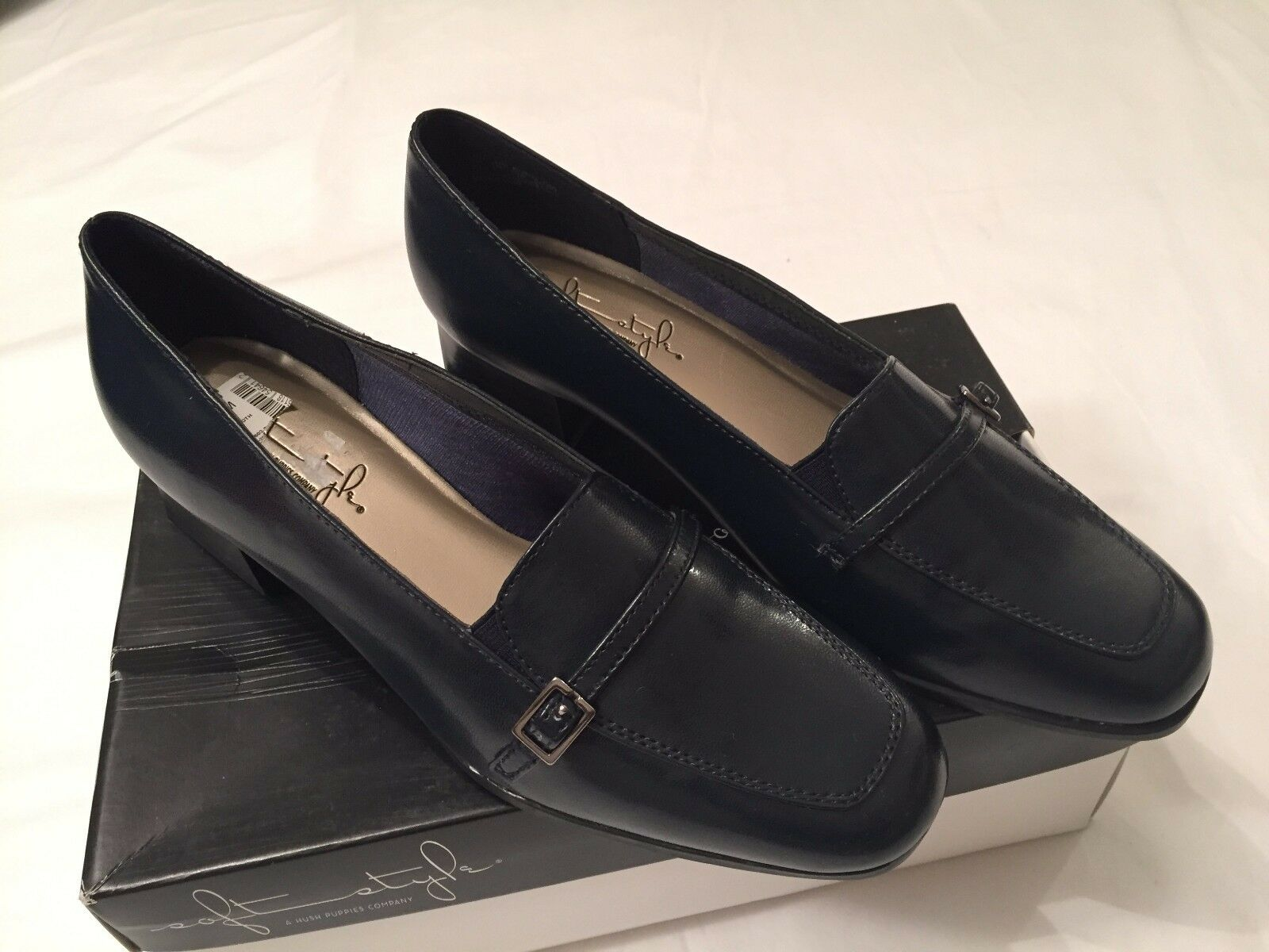 Soft Style by Hush Puppies Femme'S Robe Chaussures Glide style 74871 Bleu Marine Lisse Sz5