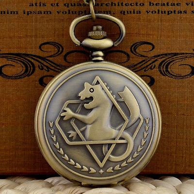 Bronze Full Hunter Quartz Fullmetal Alchemist Pocket Watch ...
