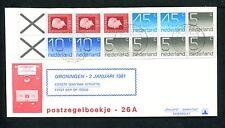 FDC met postzegelboekje PB 26, Philato, blanco/open
