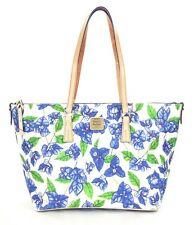 Dooney & Bourke BBOUG1518 Bougainvillea Zip Top Shopper (White/Blue)