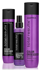 Matrix NEW Total Results Color Obsessed Shampool/Conditioner 300ml & Miracle 12