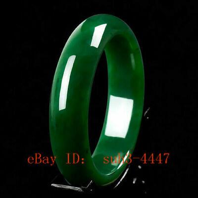 Exquisite Chinese nature light green jade hand carved jade bracelet bangle