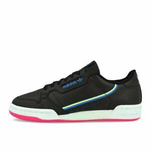 Details zu adidas Continental 80 W Black Hi Res Yellow True Blue Schuhe Sneaker Schwarz