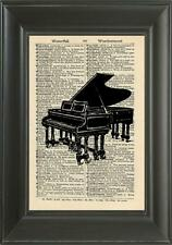 ORIGINALE-Pianoforte a Coda art print on VINTAGE dizionario pagina-Wall Art Print 220B