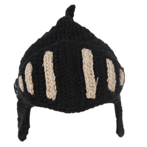 New  Winter Warm Crochet Knit Black Ski Beanie Wool Roman Knight Hat Cap CB
