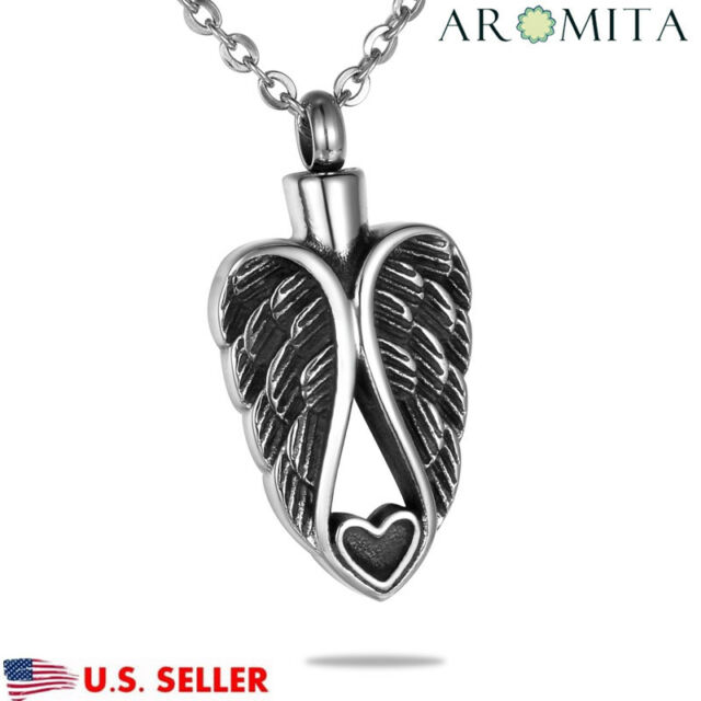 Leaf Shape Forever in My Heart Cremation Jewelry for Putting Ashes Memorial Pendant