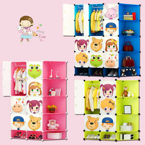 Image Is Loading New Children Wardrobe Kids Character Design Cubes Toy
