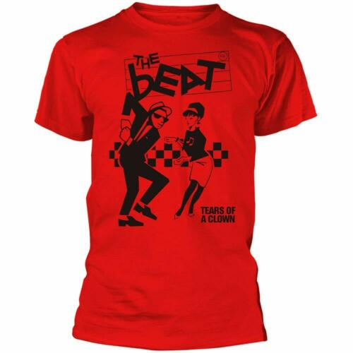 Authentic THE ENGLISH BEAT Tears of A Clown T-Shirt Red S-2XL NEW