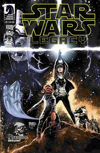 STAR WARS LEGACY #1 EXCLUSIVE Rare PHANTOM VARIANT