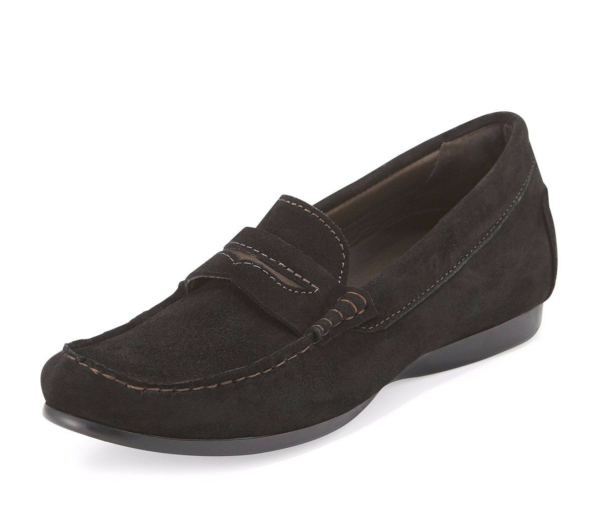 Munro Women's Black Leather Ramie Loafer 7335 Size 11M