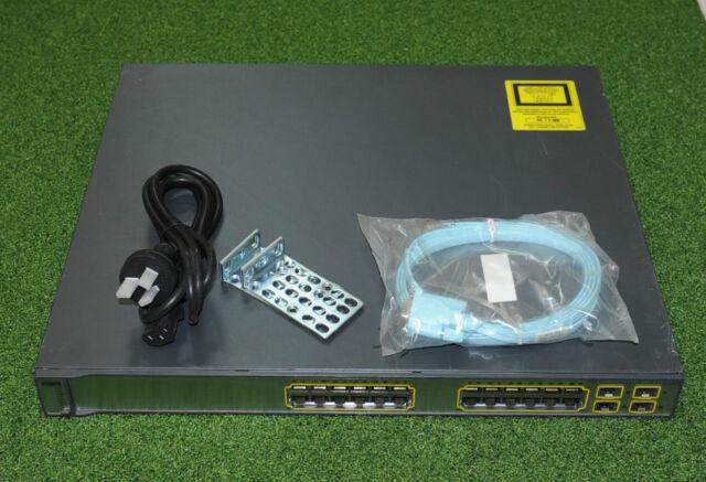 CISCO WS-C3750G-24PS-S Switch 24xGE PoE 4xSFP w/ CAB-STACK-50CM - 1 YR WTY/ INV