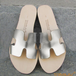 b0dcca4d6c1 Image is loading Ancient-Greek-Premium-Leather-H-Sandals-Handcrafted-by-