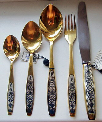 "Set of Silver Cutlery ""single""  Vintage Russian USSR 875. The Blackening Gilding"