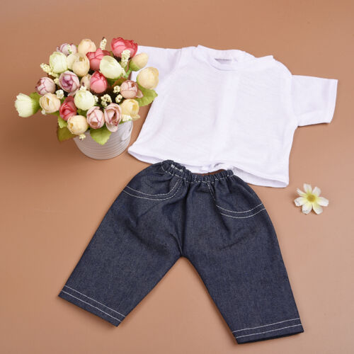 Pant Clothes Suit for 18 inch Doll Children Handmade Fashion Doll Tshirt