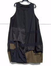 NWT Moyuru BLACK Color Block Cotton Balloon Hem Scoop Neck Dress Generous L $428