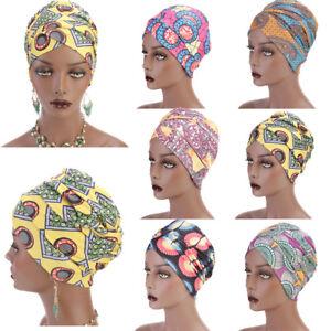 New Women Muslim Multi Usage Turban Headband African Printing Long ... 90d356b0d87