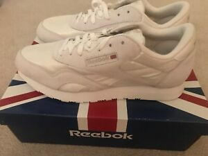 New-Mens-White-Classic-Nylon-Reebok-athletic-shoes-size-13