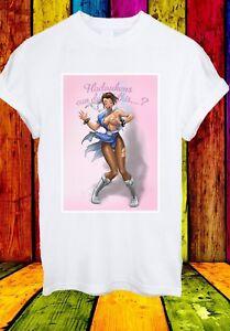 Sexy-Chun-Li-hadoukens-puo-fare-questo-STREET-FIGHTER-Uomini-Donne-Unisex-T-shirt-761