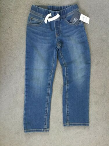 GAP BLUE SOFT JEANS WITH ELASTICATED WAISTBAND /& DRAWSTRING WITH SLIM LEG BNWT