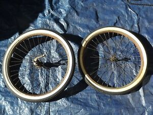 Early New Departure Model D Bicycle Tires and Rims From Prewar Iver Johnson