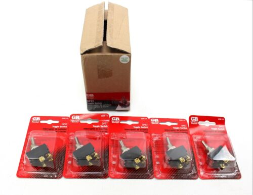 Box Of 5 GB GARDNER BENDER DPST GSW-14 TOGGLE SWITCH 10-20A ~ Motor Rated