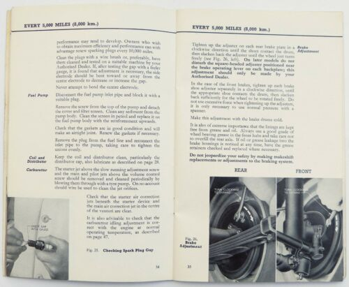 Automobilia From 1953 to 1959 Ford Prefect & Anglia Instruction ...