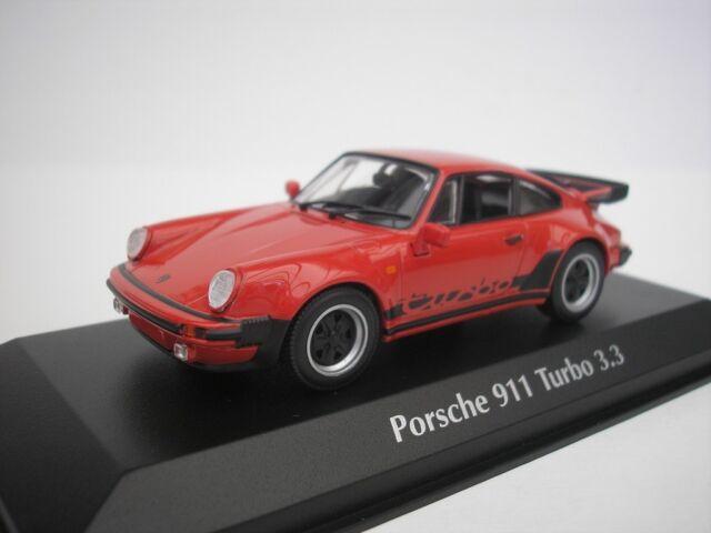 PORSCHE 911 TURBO 3.3 1979 ROSSO 1/43 maxichamps 940069000 NUOVO