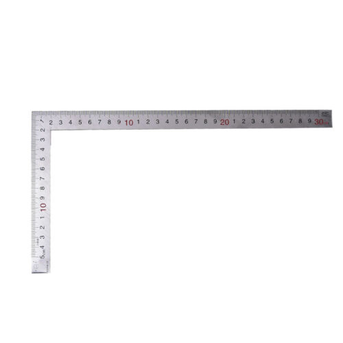 Stainless Steel 15x30cm 90 Degree Angle Metric Try Mitre Square Ruler Scale UK