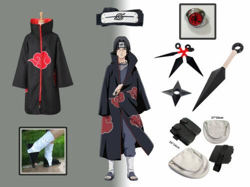 Akatsuki cloak Uchiha Itachi Cosplay Costume Full Sets