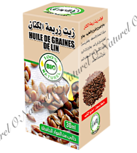 Huile-de-Graines-de-Lin-BIO-100-Pure-amp-Naturel-30ml-Flaxseed-Oil-Aceite-de-Lino