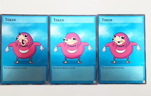 Ugandan Knuckles Meme 3 Full Art Personalizada Yugioh Token Cartões