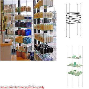 cable system shop window display toughen glass shelves 1000mm x rh ebay co uk Window Plant Display Shelves Old Window Shelves