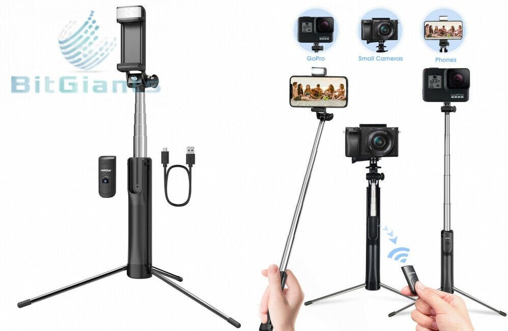Mpow Selfie Stick Tripod, 3 in 1 Extendable Monopod with Blu