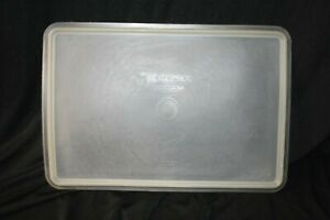 """Vintage Tupperware #291 Sheer Rectangle 9"""" x 13"""" Replacement Lid ONLY! Clean!"""