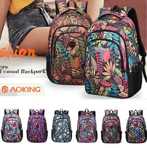 Image is loading New-Backpack-Women-Travel-Bookbags-School-Bags-Teenage- e87c6e122f