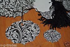 Mix Lot 200 100 Large 100 Small Ornate Elegant White Amp Black Price Tags Strung