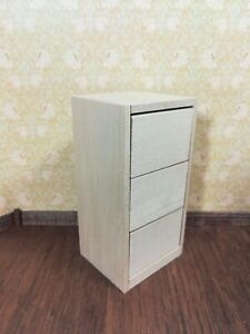 Details About Dollhouse Miniature Large Wood Filing Cabinet 3 Drawers 1 12 Scale Unfinished