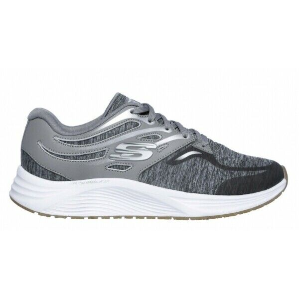 Skechers SKYLINE DASHIN THRU Ladies Womens Lace Up Running Trainers Soft Grey