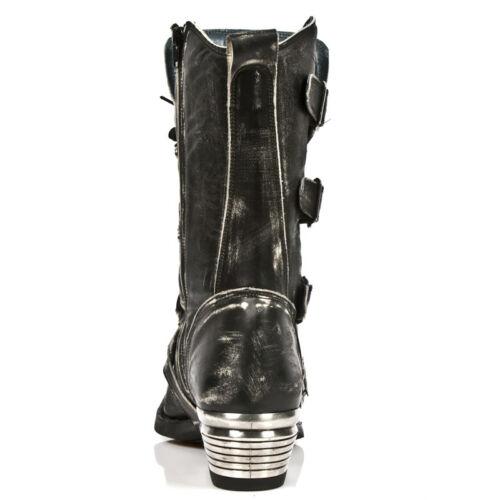 New Rock Homme Gris Dallas Bottes en cuir M.7993-S3