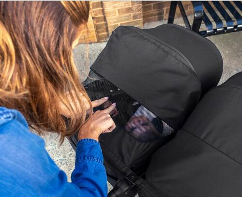 Britax B-Lively Lightweight Quick Fold Twin Baby Double Baby Raven NEW 2019
