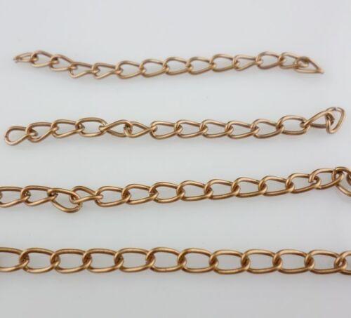 Lot 50//100pcs DIY Bracelets Necklace Extend Chains Gold Silver Bronze,Copper