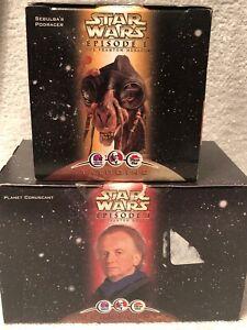 Star-Wars-Episode-1-Sebula-039-s-Podracer-and-Planet-Coruscant-Lot-of-2-KFC