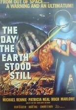 A3 THE DAY THE EARTH STOOD STILL POSTER Science Fiction Cult Film 1951 Robot