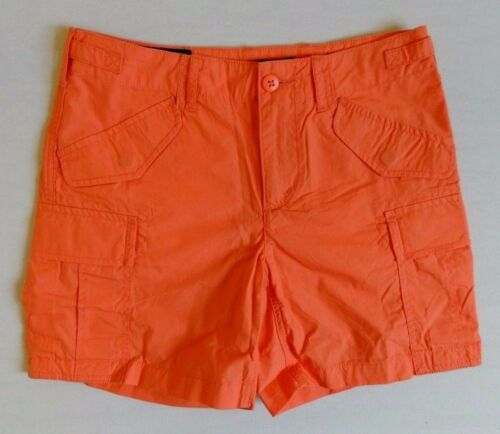 $89 Polo Ralph Lauren Poplin Military Army Cargo Buckled Mini Shorts 0 2 4 6 8